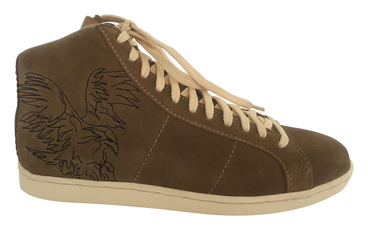 Zapatillas zapatos caballero zapatos caballero zapatillas zapatos de piel marrón de gamuza Adler