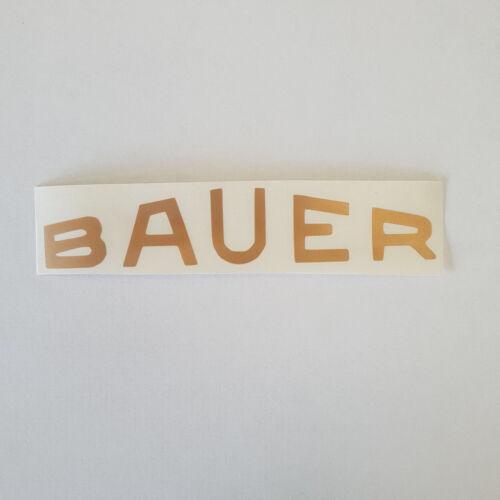 Oldtimer Aufkleber Sticker Logo BAUER Fahrrad * gold