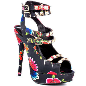 Rupauls-glissez-course-par-iron-fist-tropical-multi-stiletto-Chaussures-compensees-floral-sa