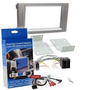 Iveco Daily 4 und 5 06-14 2-DIN Autoradio Einbauset  silber Lenkrad Adapter