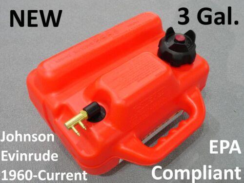 NEW EPA Compliant 3 Gallon Outboard Boat Motor Fuel Gas Tank Johnson Evinrude