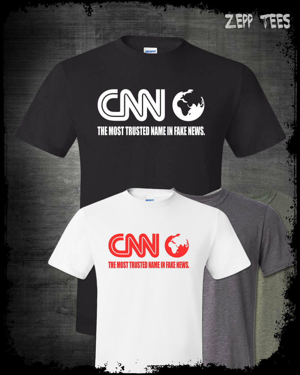CNN Fake News Network T-Shirt Funny Meme Fraud Corrupt Liberal M5M Media  Trump