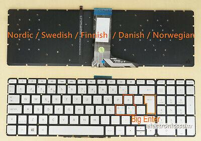For HP 350 G1 350 G2 355 G2 752928-DH1 Keyboard Nordic Danish Swedish Norsk FIN