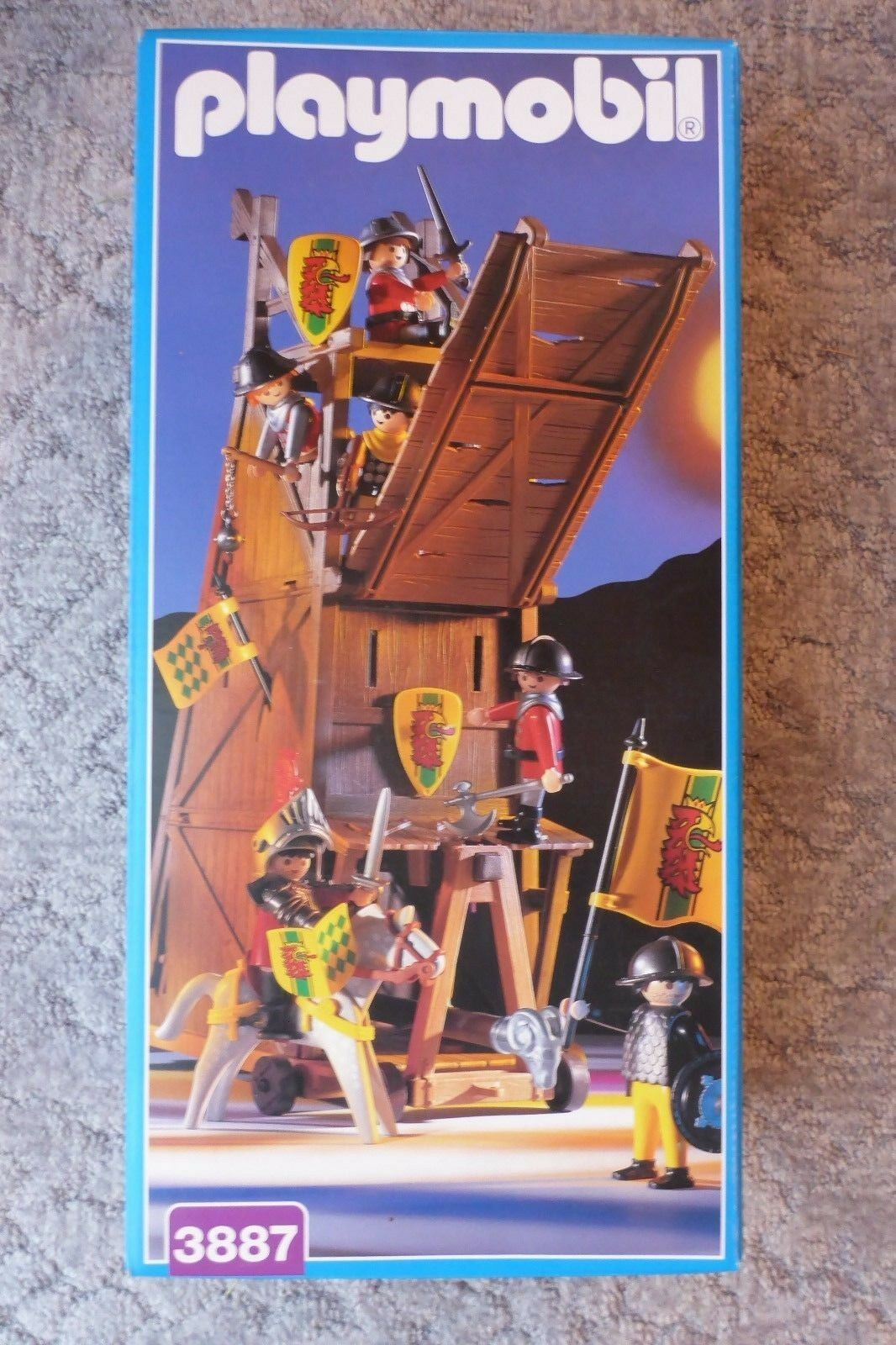 Playmobil 3887 Angriffsturm Belagerungsturm Rammbock - komplett in OVP TOP