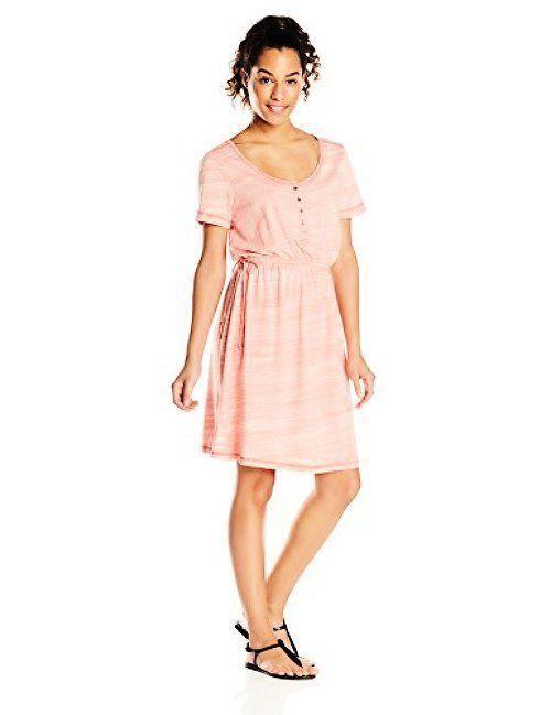NWT prAna Women's Bromley Dress Neon orange sz XS