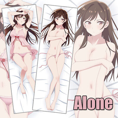 Mizuhara Chizuru Kanojo Okarishimasu Anime Dakimakura Body Pillow Case 150x50cm