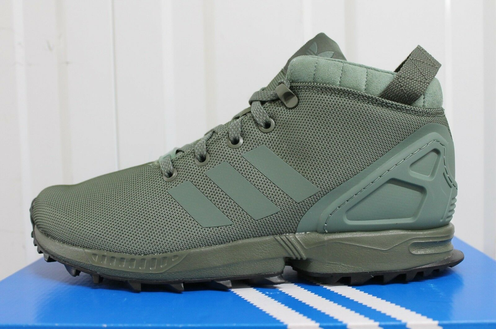 newest collection fdcd6 e37f7 MEN,S ADIDAS ZX FLUX 5/8 GREEN SNEAKERBOOT BOOTS BY9434 BNIB 40