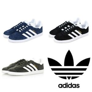 Adidas-Originals-Mens-Gazelle-Trainers-Lace-up-Leather-Suede-Casual-Shoes