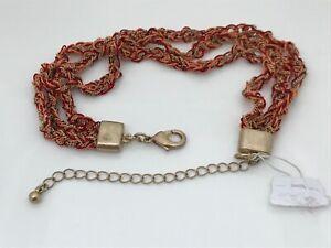 Women-Bracelet-Red-thread-gold-Tone-Chain-Ladies-Wrist-band-Adjustable