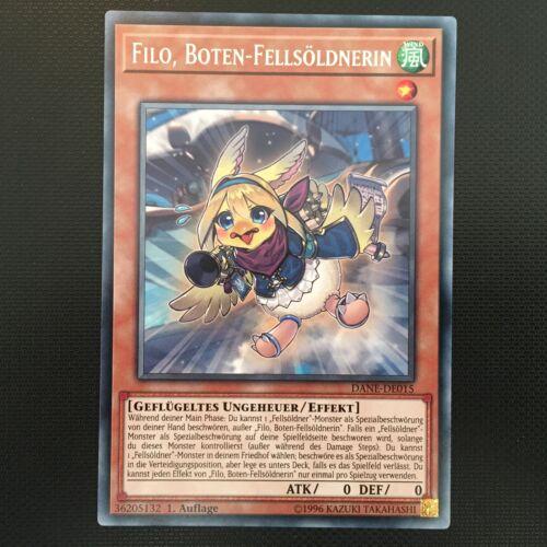 Auflage! Filo Boten-Fellsöldnerin DANE-DE015 Rare YUGIOH! Near Mint 1