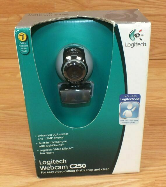 Logitech Webcam C250 1 3 Mp Megapixels Video Microphone Rightsound Great 4 Zoom For Sale Online Ebay