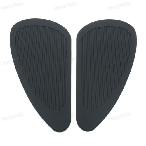 New Tank side Gas Pad Knee Grips Protector Fit Harley-Davidson Triumph Black
