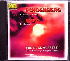 DUKE QUARTET: SCHOENBERG Verklärte Nacht BERG Lyric Suite CD Collins 1997
