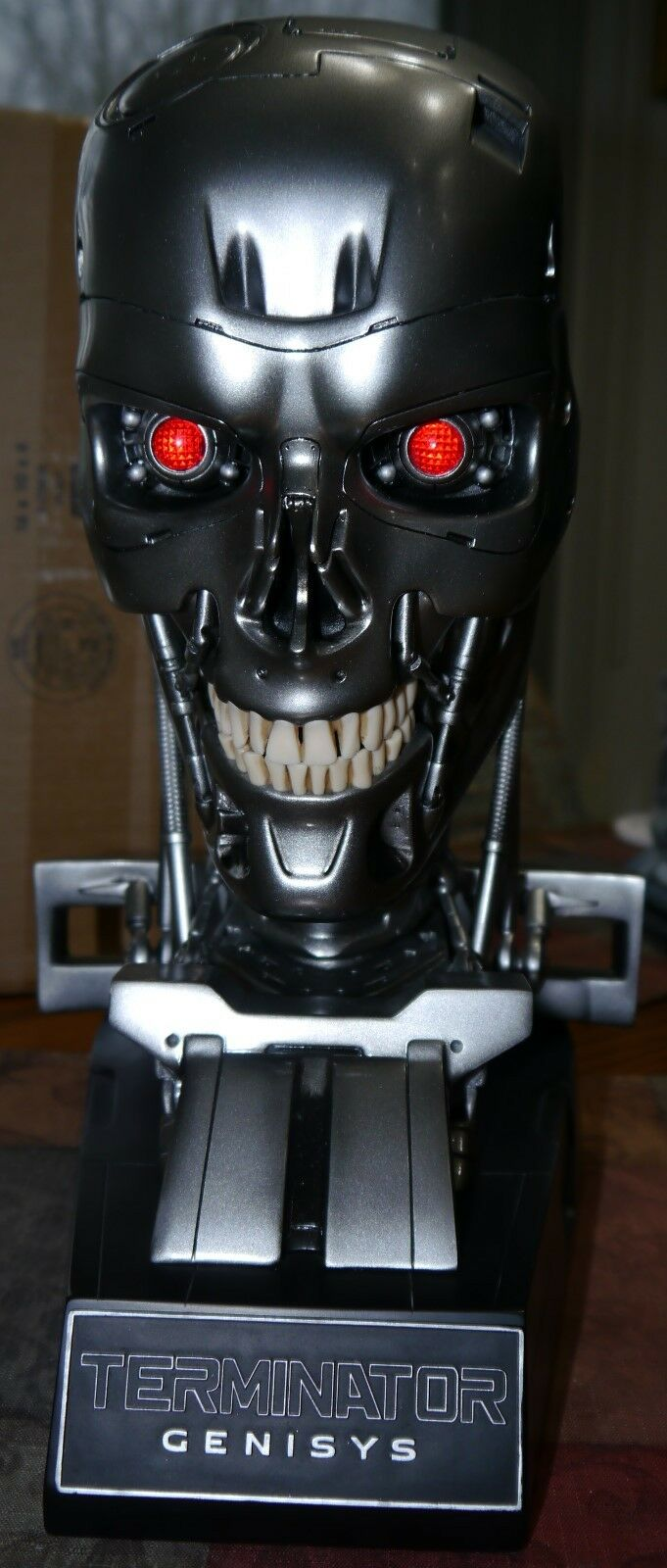 Terminator Genisys Endoskeleton Life Größe Skull Replica movie molds Chronicle