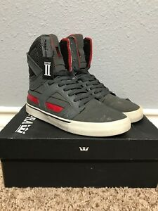 Supra-Skytop-II-2-M-7-5-Grey-Red-USED