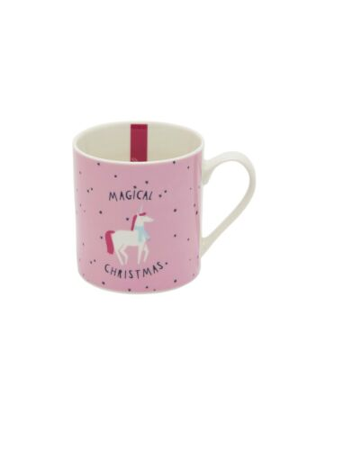 Becher rosa mit Einhorn in Geschenkbox NEU JOULES Tom Joule X Mas Tasse