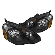 02-04 Acura RSX JDM Black Headlights w/Amber Reflector DC DC5 Type S Base ITR