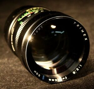 Vintage-Trimex-Lense-7901-1-2-8-f-135mm-With-Case-And-Covers-58-0