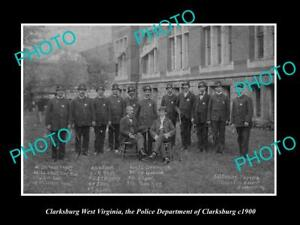 OLD-LARGE-HISTORIC-PHOTO-OF-CLARKSBURG-WEST-VIRGINIA-THE-POLICE-DEPARTMENT-1900