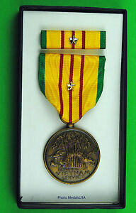 Original-Vietnam-War-U-S-GI-Issue-Service-Medal-set-silver-5th-Battle-Star