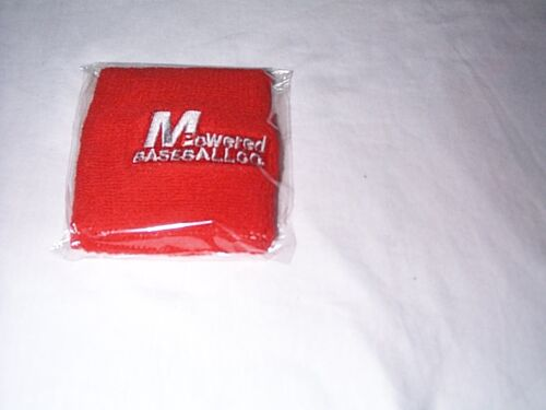 PAIR of MPOWERED BASEBALL COTTON WRIST BAND  Available  13 different COLORS*NEW!