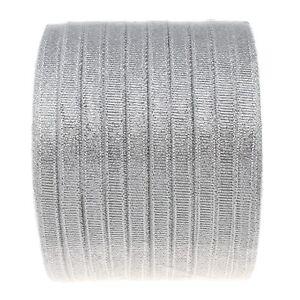 22m-Funkeln-Band-fuer-Organza-Schleife-Gitzer-Schmuckband-Silber-6mm-BEST-C255