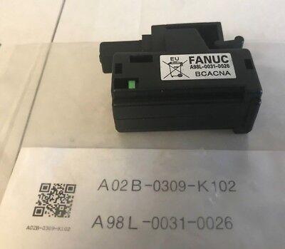 Genuine A98L-0031-0026 FANUC CNC battery A02b-0309-k102 3V