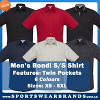 Mens Bondi Short Sleeve Shirt Pockets Business Casual Office Work Hotel S306ms