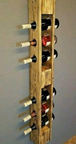 Shelves Vintage Bottle Holder with Pallet epal Solid Wood 120x15 cm