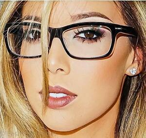 e63b8e94649 Image is loading Sexy-Square-Rectangular-Nerd-Geek-Women-Clear-EyeGlasses-