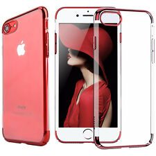 For Apple iPhone 8 7 Plus Ultra Thin Transparent Clear Shockproof Bumper Case