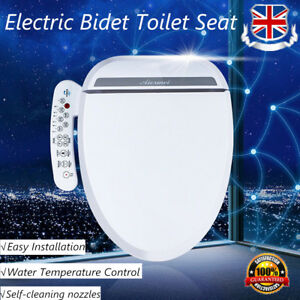 Electric Smart Bidet Toilet Seat Elongated Heated Side Panel Control Massage Uk Ebay