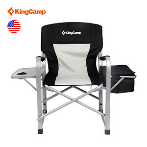 Details About Kingcamp Portable Heavy Duty Folding Camping Chair Director Cooler Bag