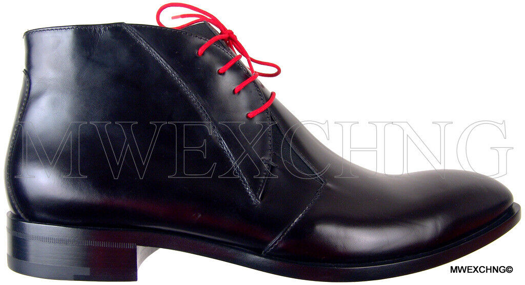 CESARE PACIOTTI   9.5 HORSE SKIN LACED ANKLE ANKLE LACED BOOTS ITALIAN DESIGNER Uomo SHOES 2222df