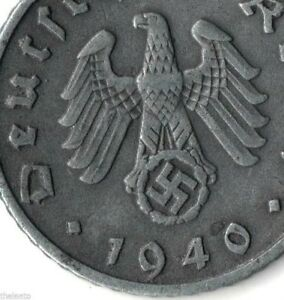 Rare-Very-Old-Vintage-WW2-WWII-German-Military-Germany-Great-War-Collection-Coin
