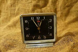 Vintage-Alarm-Clock-034-Diamond-Shanghai-034-Black-Face-Mechanical-Alarm-Clock-like-TV