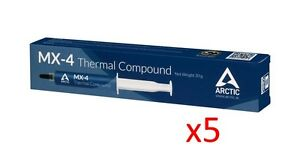 Lot-of-5-Arctic-Cooling-MX-4-Thermal-Compound-20g-Tube-2017-CLEARANCE-SALE