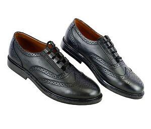 Scottish Kilt Ghillie Brogue Black Shoes 100/% Genuine Leather Shoes Sizes 6-13