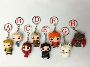 Game-Of-Thrones-Pocket-Daenerys-Jon-Snow-Figure-Keychain-Hot