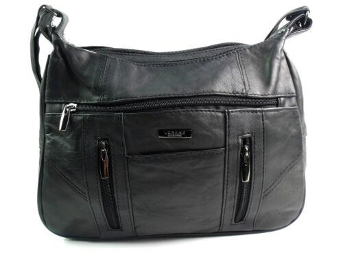 Real Hobo Leather Blacks Body Crossover Handbag Quality Bag Shoulder Ladies Messenger 5awqUU
