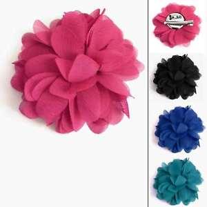 Pince-a-cheveux-barrette-broche-bibi-fleur-tissu-rose-noire-bleu-roi-ou-verte
