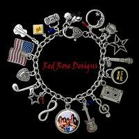 Bon Jovi Themed Charm Bracelet