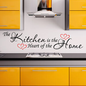 Kitchen Wall Sticker Heart Of The Home Vinyl Art Decal Family Quote