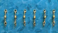 6 Magnetic Jewelry Clasps Extender - Goldtone Magnetic Conversion Clasps Gp934