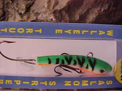 "Moonshine Shiver Lure Size#00 1//8oz 1/"" Jigging Lure in Color /""GLOW PERCH/"""