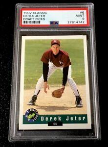 Details About Psa 9 Derek Jeter Rookie Card 1992 Classic Draft Picks Kalamazoo 6 Yankees Mint