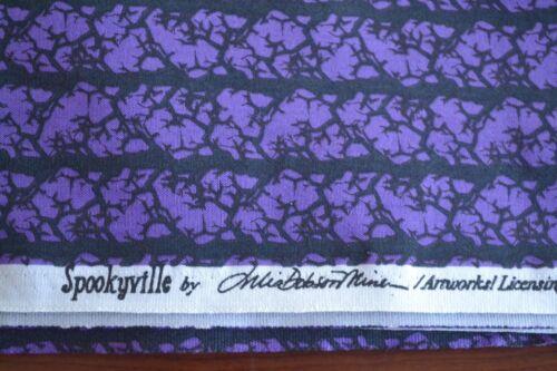 Studio-e//Spookyville//Miner//1489 M9083 By 1//2 Yd Purple /& Black Quilting Cotton