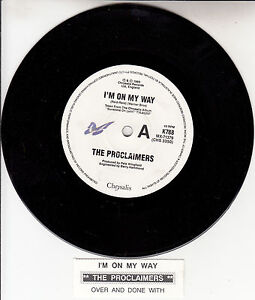 THE-PROCLAIMERS-I-039-m-On-My-Way-7-034-45-rpm-vinyl-record-juke-box-title-strip