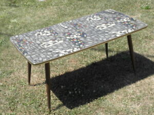 Table Basse Formica Scandinave Mosaique Design Vintage Mid Century