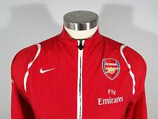 NIKE Men's Fly Emirates Arsenal Windbreaker Jacket Size Large Red Futbol Soccer